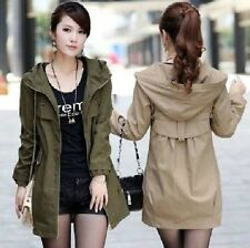 New Fashion  women's long section coat jacket Slim Hooded Casual jacket