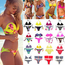 donne Due Pezzi Bikini brasiliano Push-Up triangle Swimwear da bagno costume