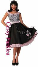 Ladies 1950s Grease Bopper Poodle Hop Diva Sock Hop Fancy Dress Costume