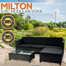 Outdoor Wicker Setting PE Rattan Modular Sofa Set Couch Lounge Garden Furniture