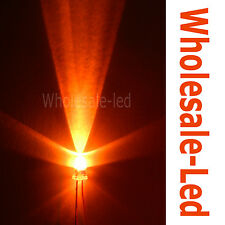 50-1000pcs 3mm Round Top Orange Super Bright Amber Long Leg Light Wholesale Led