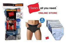 Hanes Men's  Briefs 6 Pair  Assorted Colors Tagless (Comfort Flex Waistband)