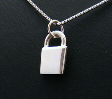TINY SMALL LOCKET PENDANT STERLING SILVER 925 GIFT STRING SILVER ENDS BY JOLLER
