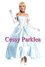 Classic Disney blue Cinderella Princess Costume Fairy Tale Fancy Dress Ball Gown