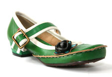 Yoma Green Gracie Side Flower Strap Shoes Heel Mary Jane