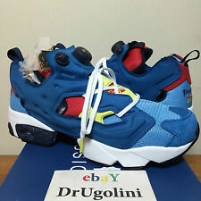 REEBOK X PACKER SHOES INSTAPUMP FURY OG 4-10 blue AZTEC V66518. UNDER RETAIL