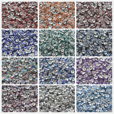 Wholesale 50/100/200pcs 8mm Plated Rondelle Clear Crystal Rhinestone Spacer Bead