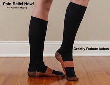 Copper Compression Socks Knee High Support Pain Relief MIRACLE Stockings Unisex