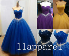 Simple Real Sample Color Wedding Dress Ball Gown Party Evening Pageant Dresses