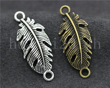 8/30/150pcs Tibetan Silver Exquisite Banana Leaf Jewelry Charm Connector 35x14mm