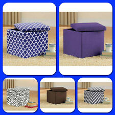 Ottoman Bench Chair Seat Storage Stool Furniture Modern Footstool Table Faux Box