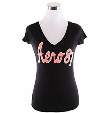 Aeropostale Women Casual Solid V-Neck Graphic T Shirt Style 4186-Free $0 Ship