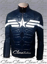 CAPTAIN AMERICA 2014 THE WINTER SOLDIER CHRIS EVANS LEATHER JACKET