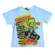 Simpsons T Shirt Bart Kids Boys T Shirt Top Official BNWT The Simpsons