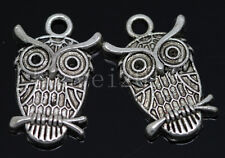 8/30/150pcs Tibetan Silver exquisite owl Alloy Jewelry Charms Pendant 23x15mm