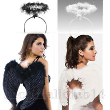 Black Or White Feather Angel Wings Photo Props adult Women Men Costume New