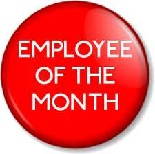 "EMPLOYEE OF THE MONTH /WEEK /YEAR 25mm 1"" Pin Button Badge Novelty Work Job RED"