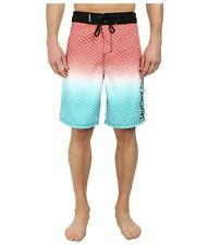 Hurley Scallops Board Shorts Mens Red Black Ombre Recycled Polyester New NWT