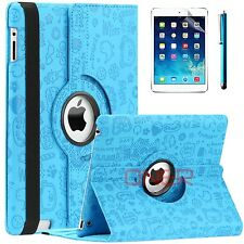 For Apple iPad 2 3 4 mini Air Premium PU Leather Smart Case Cute Baby Blue