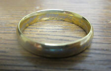 18k Gold Plated Stainless Steel Lord of the Rings The ONE Ring 4 MM  size 5 - 9