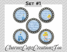 Bottle Cap Magnets / Set of 5 / Disney Cinderella Inspired / Packaged Gift