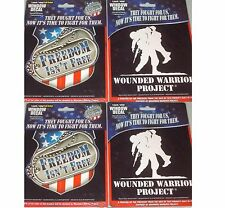 Freedom Isn't Free OR Wounded Warrior Project, Window Decal Vinyl sticker CHOOSE