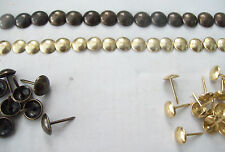 100 X ANTIQUE BRONZE OR BRASS STEEL UPHOLSTERY NAILS STUDS TACKS WOOD CHEST