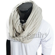 new cable unisex knit Infinity scarf warm shawl winter chic wraps