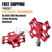 AEST Bike MTB Road Folding Platform Pedal CNC Titanium Spindle Ti / Steel Axle