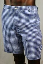 POLO By Ralph Lauren Mens Blue Gingham Shorts ~NWT~