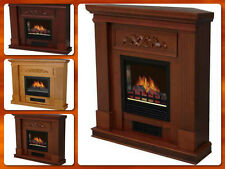 Fireplace Electric Corner Room Heater Fire Flame Heat Adjustable Stand Mantle