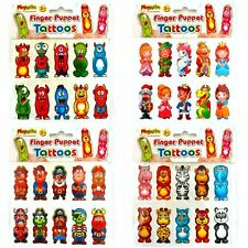 Kids Finger Puppet Tattoos Boys Girls Birthday Loot Party Bag Fillers