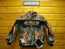 Castle X Boys Jacket Bolt G3 Orange Realtree Camo Youth Snowmobile Winter Coat