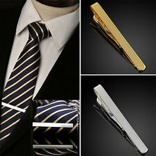 New Premium Mens Gunmetal Black Metal Tie Bar Holder Clip Simple Jewelry Clasp
