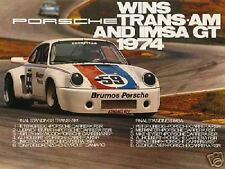 Porsche 911RSR Carrera win Trans-Am 1974  Poster NEW