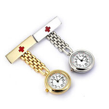 Fashion Round Dial Red Cross Doctor Brooch Fob Quartz Cross Nurse Pocket Watch