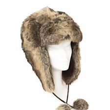 Ladies Trapper Aviator Russian Ushanka Winter Hat With Ear Flap Lace New