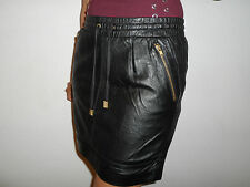 WOMANS LADIES FULLY LINED 100% BLACK NAPPA LEATHER SKIRT SIZE 8 TO PLUS SIZE 26