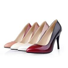 New Womens Pointed Shoes Patent Leather High Heels Stilettos Pumps AU Size 2-10