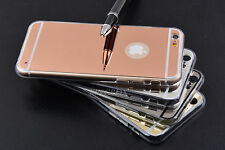 Luxury Ultra-thin Mirror Clear Transparent Soft TPU Case Cover For iPhone Series