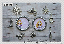 10 pc Tangled Inspired Charm Set/Lot/Collection with Bottle Caps /Choose Set/ #2