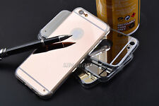 Luxury Ultra-thin Mirror Transparent Soft TPU Case Cover For iPhone & Samsung