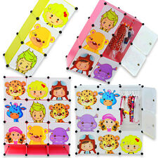 NEW Kids Wardrobe Childrens Storage Cabinet Boxes Character Design Cubes UK
