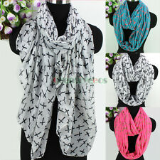 Women's Fashion Scarves All Over Cross Print Soft Casual Long/Infinity Scarf New