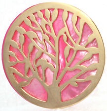 CEM Coins CS271-CS272 Coin Pendant Tree of Life pearl disc rose