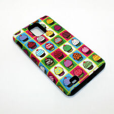 Mini Cupcakes Hybrid ShockProof Phone Cover Case For Samsung Infuse 4G I997