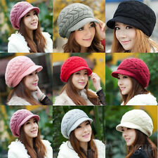 New Fashion Women Winter Warm Baggy Beanie Knit Crochet Hat Girl Slouch Ski Cap