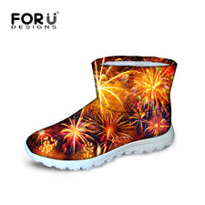Fashion Womens Ankle Boots Winter Warm Thicken Shoes Waterproof Flat Snow Boots