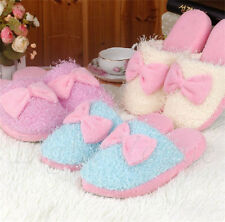 Cool 2015 velvet Women Lady Anti slip bowknot Slippers Indoor House Soft Warm 71