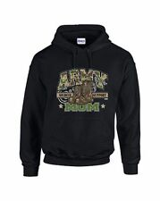 ARMY MOM Hoodie Soldier Support USA Military Many Colors Sizes Small To 3XL
